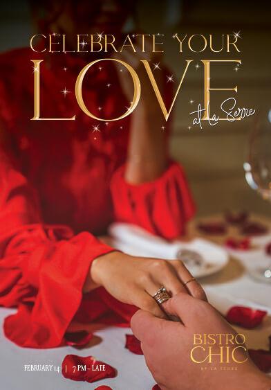 Celebrate your love at La Serre