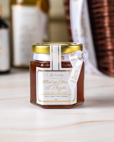 Thyme and lemon honey